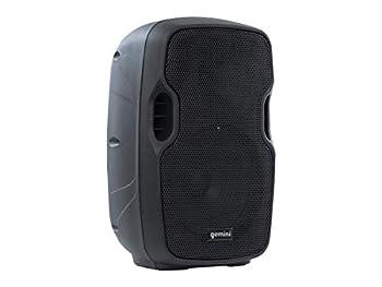Gemini Sound AS-08TOGO Wireless Pro DJ Battery Powered Portable PA Loudspeaker w/ 500W Class AB Amplifier 8  Inch Woofer Bluetooth SD USB Microphone/Guitar Input Trolley Handle Mic Set