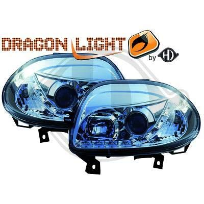 4413485 koplamp daylight LED chroom voor Clio 2 van 1998 tot 2001