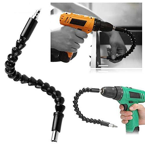 12' 300mm Flexible Flexi 1/4' Hex Screwdriver Extension Bar Drill Driver Shaft
