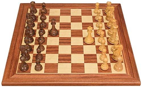 Conjuntos de tableros de ajedrez Conjunto de ajedrez de calidad Internacional Juego de ajedrez de madera maciza MDF Tablero de ajedrez hecho a mano Talla de madera Piezas de ajedrez para adultos para
