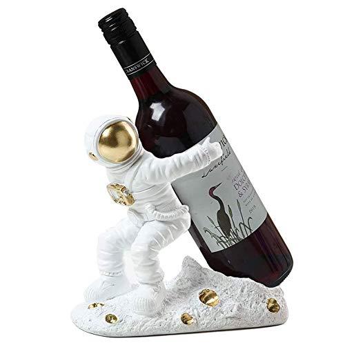 OUYA Botelleros Vino, Soporte para Vino De Mostrador para El Hogar Y La Cocina, Manualidades De Decoración del Hogar, Solo Estante para Vino, Sin Vino,Metálico