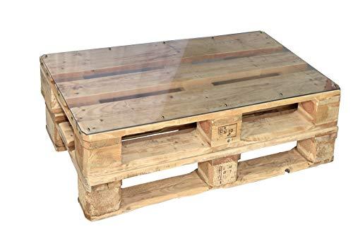 clc Tavolo Tavolino in Pallet per Salotto Esterno Giardino -Made in Italy- Legno Verniciato, 80x60x30