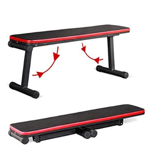 WMNRNYD Abdominal Training Hantelbank für Gewicht, Home Hantelbank Verstellbare, feinere Form Fitness-Qualität Faltbare Flachbank für Mehrzweck-Krafttraining und Bauchmuskelübungen,Rot