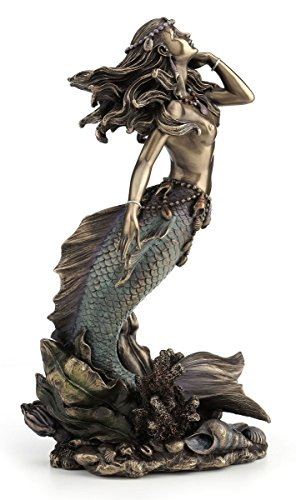 Beautiful Mermaid Rising from Sea Statue Sculpture