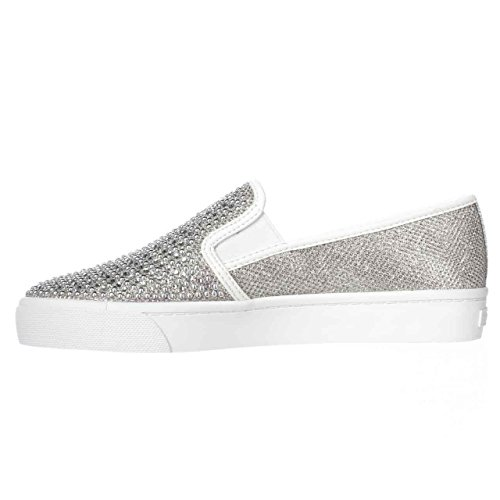 Price comparison product image INC International Concepts Womens Sammee2 Fabric Low Top Slip,  Pewter,  Size 10.0