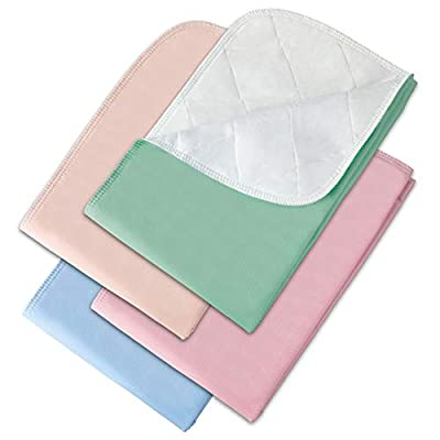 """Incontinence Bed Pads - 4 Pack 24"""" x 36"""" Reusable Waterproof Mattress Protectors - Highly Absorbent, Machine Washable - for Children, Pets and Seniors - Assorted Colors - Made in USA - Royal Care by Royal Care"""