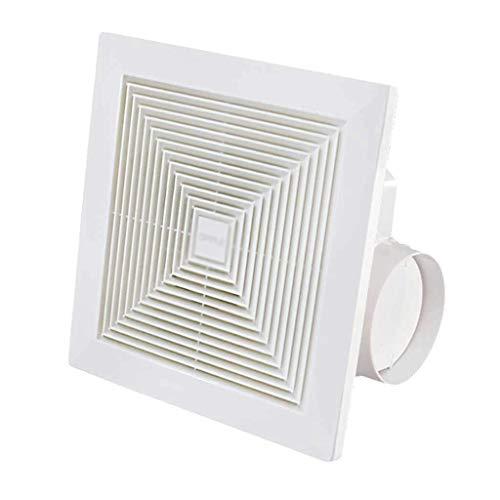 LXZDZ Ventilador, extractor de pared o techo for baño y hogar, ventilador silencioso, luz de noche, blanco (Size : 34 * 34cm)