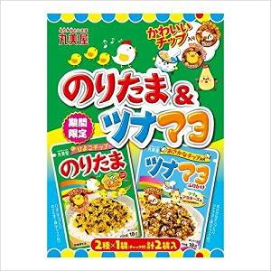 丸美屋 期間限定 かわいいチップ入り のりたま&ツナマヨ「2種各1袋(チャック付)」 2袋入×5セット