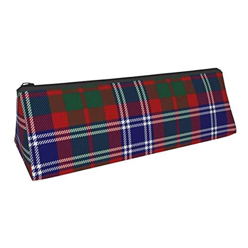 Black Watch Piper Plaid Tragbare stilvolle Stifttasche Bleistift Schreibwaren Tasche Kosmetiktasche Tasche
