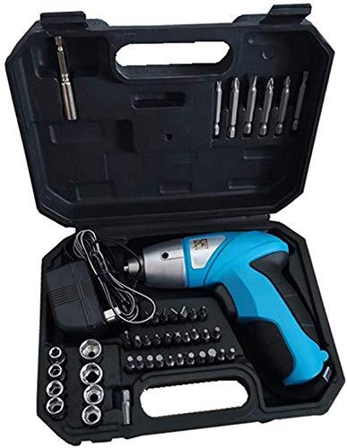 Dmqpp Mini-elektrische schroevendraaier, snoerloos, 45 in 1 oplaadbare elektrische schroevenboor met ledverlichting, kit draadloze drill Power Tools voor het huishouden