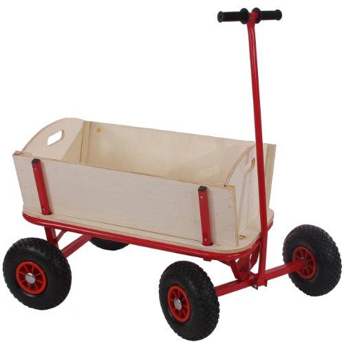 Mendler Bollerwagen Handwagen Leiterwagen Oliveira ~ ohne Sitz, ohne Bremse, ohne Dach