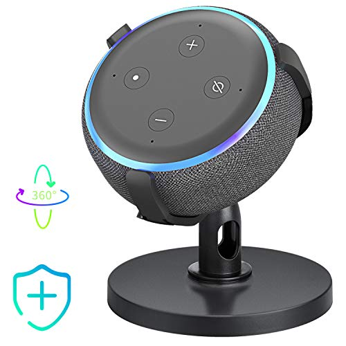 【Dot 3rd Generation Stand】Table Holder for Echo Dot 3rd Generation, 360° Adjustable Stand Bracket Mount, Space-Saving Dot Accessories, No Muffled Sound Original Outlet Hanger for Smart Home Speaker