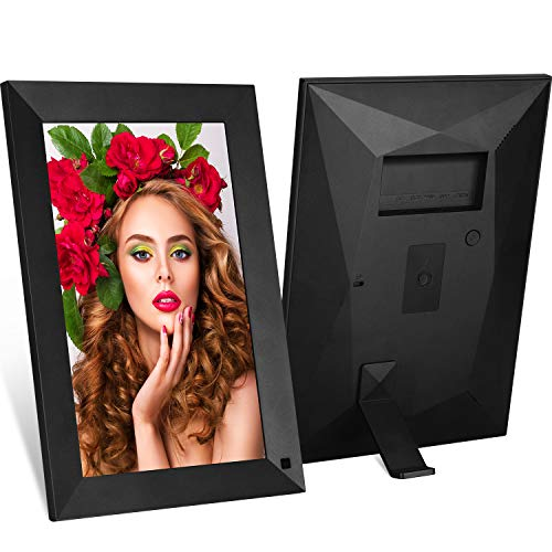 MRQ WiFi 10 Inch Full HD Digital Photo Frame Native 1080P High- Resolution IPS Screen, Digital Picture Frame Motion Sensor, Auto-Rotate, Display Photos Via Micro Card, 180° Viewing Angle