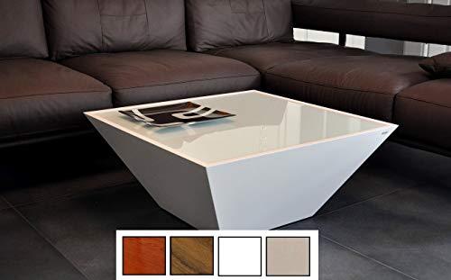 Deisign Couchtisch Tisch Carl Svensson Pyramide MV-3 Weiß Milchglas
