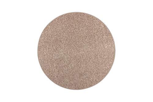 havatex Schlingenteppich Primus Berber Optik rund - Farbe wählbar | Prüfsiegel: TÜV-geprüft | Flormaterial: 100% Polypropylen | In verschiedenen Größen erhältlich, Farbe:Caramel, Größe:67 cm rund