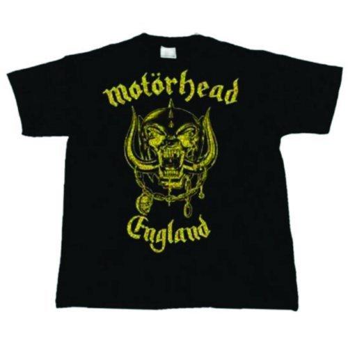Officiel ~ Motorhead (Angleterre) ~ T-shirt Classique Or ~ coton noir / or lettrage (Petit)