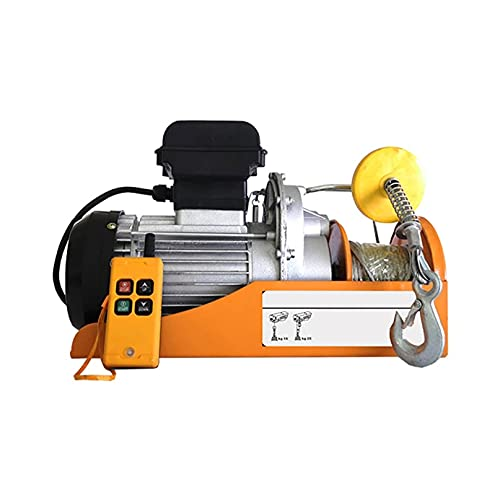 JCX Polipastos Electricos 510W, Elevador Electrico Capacidad 200kg/440lb, Electrico Electric Winch Host...