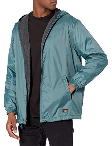Dickies Herren Fleece Lined Nylon Hooded Jacket Regenjacke, Lincoln Green, X-Groß