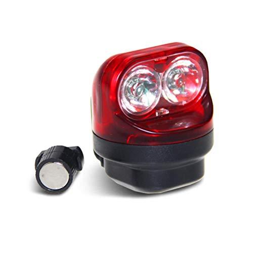 Tumnea Fahrrad Rücklicht LED, Fahrradbeleuchtung Selbstversorgende magnetische Induktion Fahrrad Licht Radfahren Nacht Warnung Rückleuchte Laterne