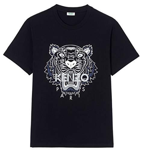 Kenzo Tiger Herren T-Shirts (S, Schwarz(Weiss/blau Tiger))