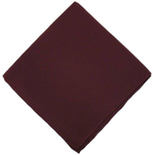 Un mouchoir en soie rouge violacé unie Michelsons