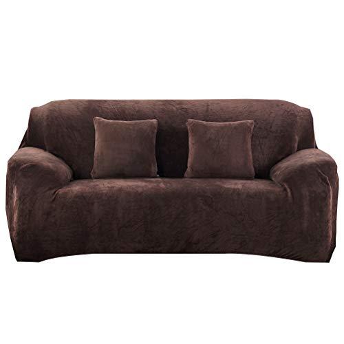 Wakauto Housse de Canapé Cuelga Extensible 3 Plazas. Protection Du Sofa Universelle Revêtement de Canapé Noir Housse de Fauteuil Confortable Dans Le Salon Chambre Maison (195-230 Cm)