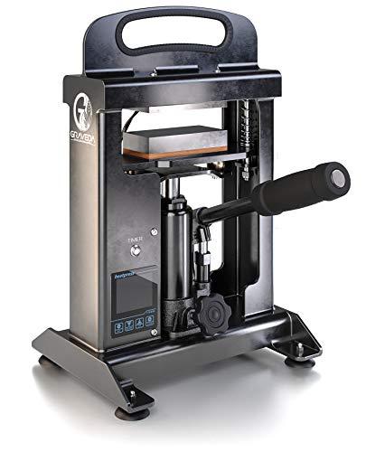 Graspresso - 10t Rosin Press mit 10 Tonnen Hydraulik Zylinder, Kolophonium Presse, 12 x 6 cm Platten