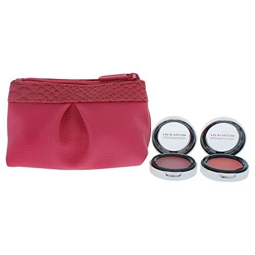 bareMinerals Blush and Blush Pop of Passion Rouge für Frauen, 3-teiliges Set mit 2 x 2 g – Berry Passion, Petal Passion und Tasche