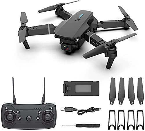 2021 Latest Waterproof Professional RC Drone with 4K Camera Rotation,Drone with Dual Camera for Kids and Adults, E88 Pro RC Drone 4K Camera Rotation HD Wide Angle FPV Live Video (E88Pro-Black)