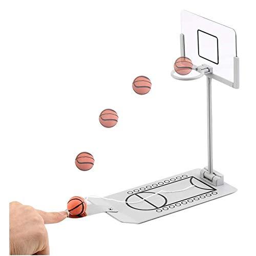 Luorizb Mini Baloncesto Mesa Familiar Entre Padres e Hijos Juego de Mesa Tabla Portable Juego de Baloncesto Conjunto de Escritorio Interactivo Mejor Juego for niños