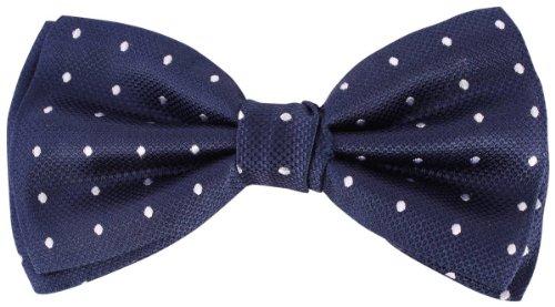 Knightsbridge Neckwear Navy/White Spots Silk cravate de