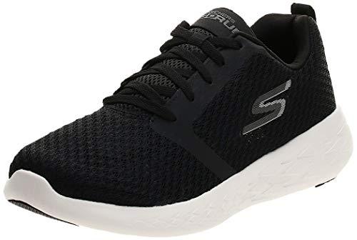 Skechers Men's GO RUN 600 Trainers, Black (Black Textile/White Trim Bkw), 7.5 UK (42 EU)