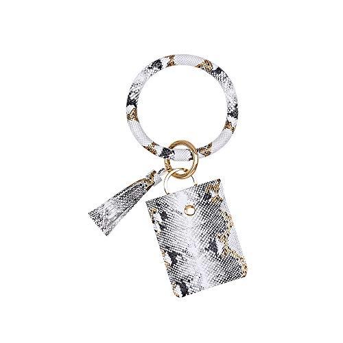 dfsa Llavero 2020 Leopard Amazon Wallet Wrist Keychain Purse PU Leather Snakeskin Bracelet Pendant