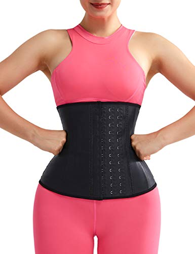 Lover-Beauty Steel Boned Waist Trainer Tummy Control Latex Waist Cincher Corset Underbust Workout Body Shaper M