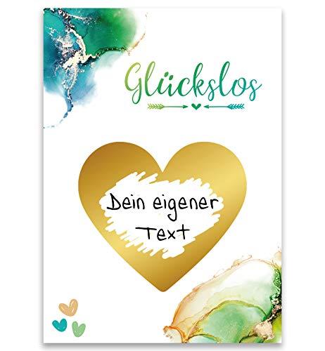 JoliCoon Rubbelkarten zum Beschriften personalisiert - Glückslose für Überraschung Rubbeln - Karten zum selber machen DIY Sticker - Patenonkel Patentante Taufe Hochzeit Geschenk Grußkarten JGA