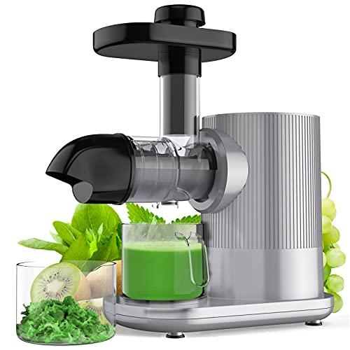 COSTWAY Slow Juicer Elektisch Entsafter rutschfest Saftpresse Fruchtpresse Edelstahl für Obst und Gemüse | 150W | 90U/min