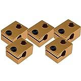 Golden V6 Bowden - Bloque de calor para extrusora (20 x 16 x 12 mm, aluminio para V5 V6 J-...