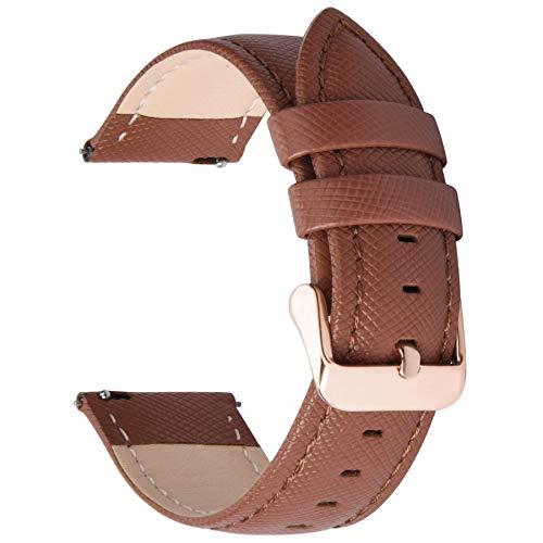 Fullmosa Cinturino per Orologio, Cinturini in Pelle 22mm, Cinturino Orologio per Samsung Gear S3 Classic/Frontier/Huawei Watch GT/GT 2 46mm / Moto 360 2nd Gen 46mm, per Uomo/Donna, 22mm Marrone