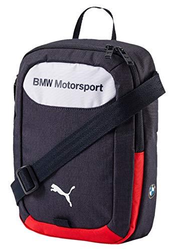Puma BMW Motorsport - Borsa a tracolla, 30 x 25 x 3 cm, colore: blu/bianco