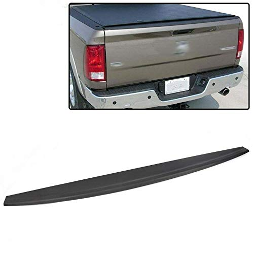 Tailgate Protector Spoiler Top Cap Molding Cover Compatible For Dodge 2009-2018 Ram 1500 Pickup & 2010-2018 Ram 2500/3500 Truck Tail Gate Bed Lip Cover Top Edge Protector