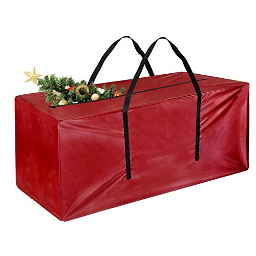 TUPARKA Christmas Tree Storage Bags Large Size for 7ft Tree, 48' x 15' x 22'(Red)