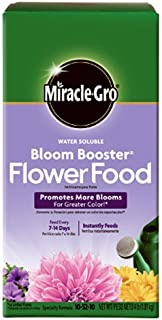 Miracle-GRO 146002 Water Soluble Bloom Booster Flower Food, 10-52-10, 4 lb, Brown
