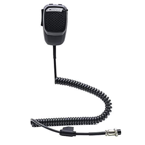Midland Dual-Mike 6 Pin, Bluetooth und CB-Mikrofon, kompatibel mit CBTalk App, mit 6 Pin Anschluss, DSP-Signalprozessor, Freisprecheinrichtung