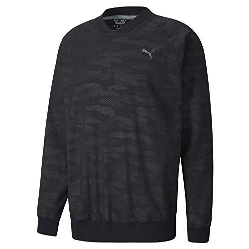 PUMA Golf Men's 2020 Embossed Wind Shirt, Felpa a Girocollo Uomo, Black, XL