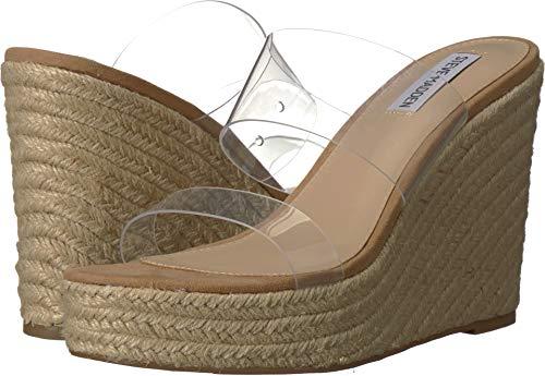 Steve Madden Sunrise Wedge Sandal Clear 7.5