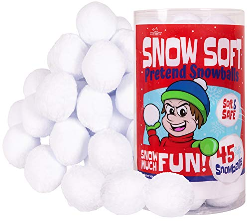 Narwhal Novelties Snow Soft; Snowball Fights - Indoor Snowballs - Fake Snowballs, Snowballs (45-Pk)