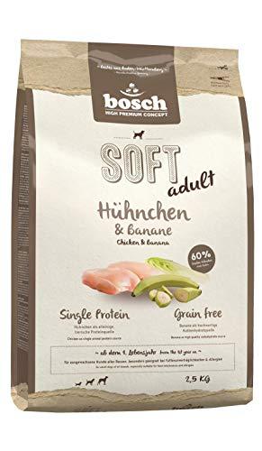 bosch HPC SOFT Hühnchen & Banane | halbfeuchtes Hundefutter für ausgewachsene Hunde aller Rassen | Single Protein | Grain Free, 1 x 2.5 kg