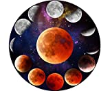 RAYKUL Jigsaw Puzzle 1000 Pieces - Mystical Moon Eclipse 1000 Piece Puzzles for Adults Kids, Large Round Puzzle Collections Fun Challenging Family Game Idea Gift - Art Puzzle for Home Wall Decor