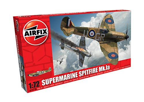 Airfix A01071B Supermarine Spitfire Mkia 1:72 Model Building Kit (36 Piece), Multicolor