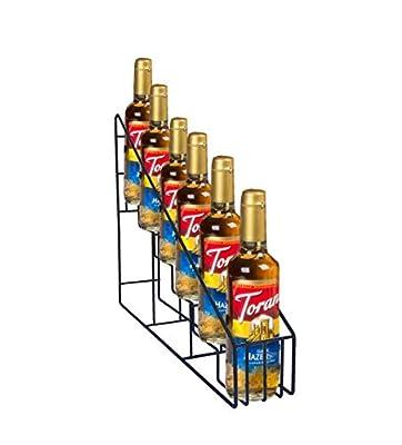 FixtureDisplays Coffee Syrup Bottle Rack Wire Rack Bottle Glorifier Display Stand Rack Bar Liquor Display 10031